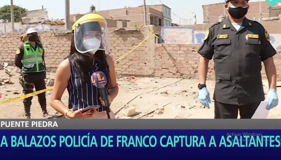 La Policía encontró en la zona del enfrentamiento hasta 13 casquillos de bala. (Foto: Latina)