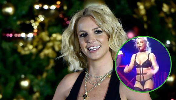 Britney Spears hace sexy baile y mostró de más en pleno concierto (FOTOS Y VIDEOS)