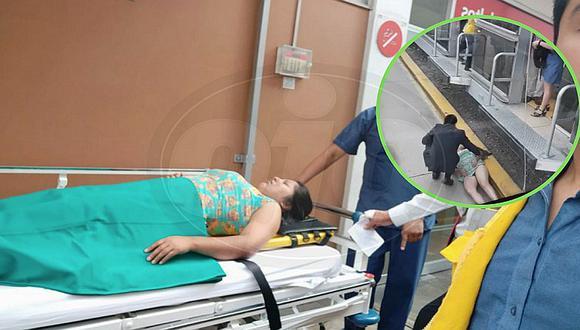 Mujer cae a vía del Metropolitano cuando intentaba ingresar a bus (VIDEO)