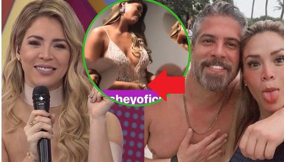 Sheyla Rojas anuncia embarazo al mostrarse en sexy vestido (VÍDEO)