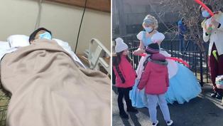 Joven se disfraza de princesa para ayudar a pagar deuda de su padre enfermo