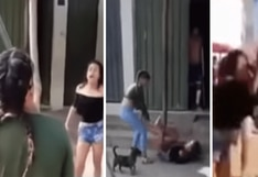 Peruana y venezolana pelean por el amor de un hombre en plena calle de Tarapoto   VIDEO