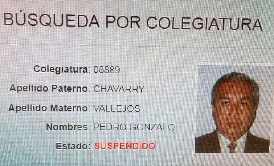 CAL oficializa la suspensión de la colegiatura de Pedro Chávarry por 4 meses