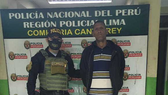 Luis Piñero fue capturado por agentes de la comisaría de Canto Rey. (PNP)