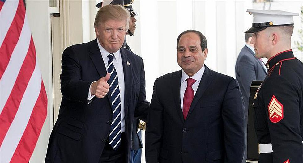 Donald Trump se olvida de los derechos humanos al apoyar a Egipto