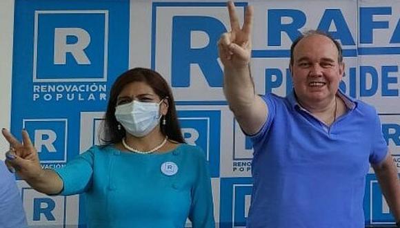 Neldy Mendoza ya no será candidata a la primera vicepresidencia en la plancha de Renovación Popular. (Foto: Renovación Popular)