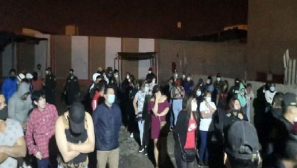 Áncash: Todos los intervenidos fueron trasladados en las unidades policiales y a la comisaría La Libertad para las posteriores diligencias de ley. (Foto: PNP)