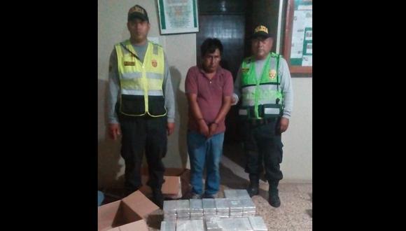 Arequipa: Detienen a transportista con 150 kilos de clorhidrato de cocaína en Camaná (Foto: PNP)