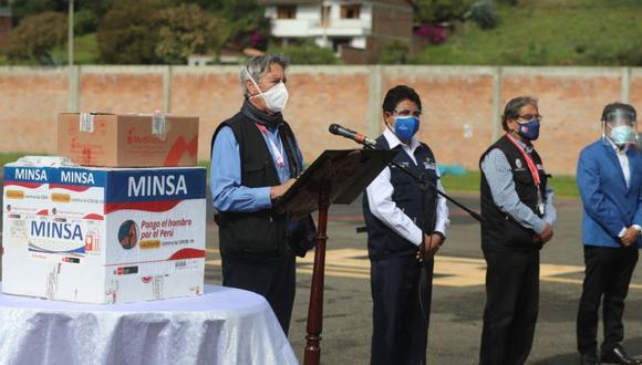 """En las últimas semanas se reporta un """"leve"""" descenso en las cifras de contagios, fallecimientos y hospitalizaciones por casos críticos en hospitales a causa del coronavirus, destacó el presidente Sagasti (Foto: Andina)"""