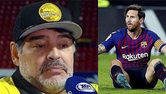 """""""No lo endiosemos más a Messi"""", dijo Maradona sobre Lionel"""