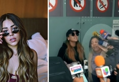 Danna Paola pierde los papeles con la prensa en aeropuerto | VIDEO