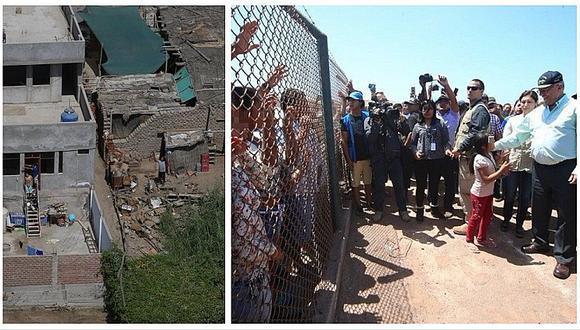 PPK sobrevuela y aterriza en Arequipa tras sismo de 6.8 grados (FOTOS)