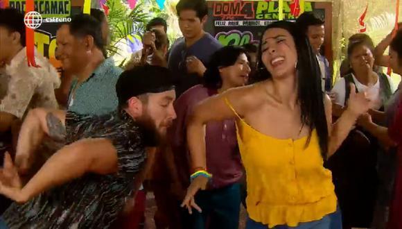 """Magdyel Ugaz regresó a la pantalla chica como nuevo personaje de la serie """"De vuelta al barrio"""". (Foto: Captura América TV)"""