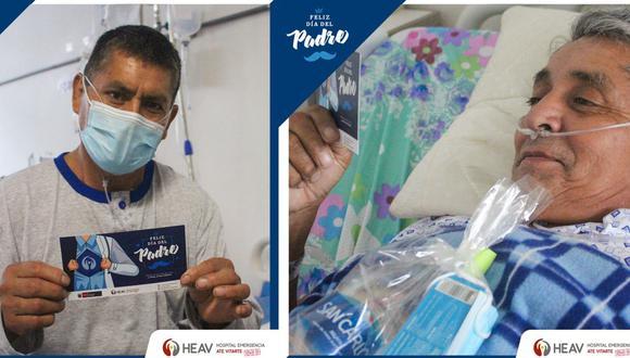 Pacientes con COVID-19 reciben homenaje por el Día del Padre en el Hospital Emergencia Ate Vitarte. (Difusión)