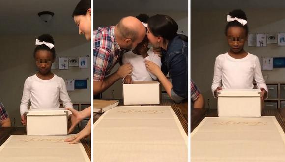 La tierna reacción de una niña al enterarse que iba a ser adoptada (VIDEO)
