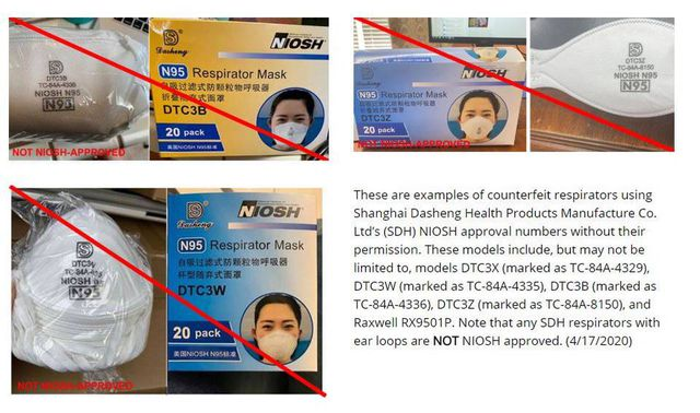 There are several ways to tell if an N95 mask is fake (Photo: CDC)