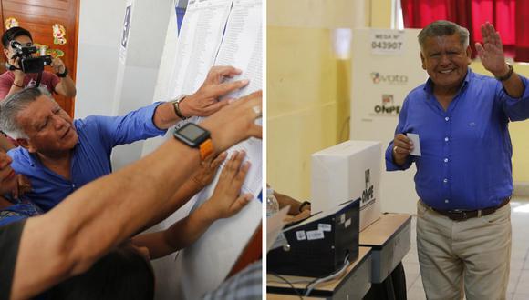 Cesar Acuña emite su voto en el colegio Alfonso Ugarte, Fotos: Francisco Neyra/GEC
