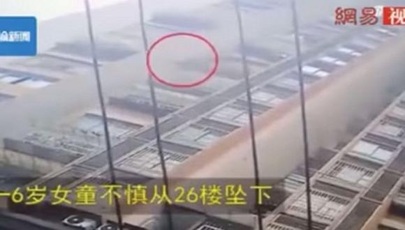 Niña cae del piso 26 y solo sufre fracturas en el brazo (VIDEO)