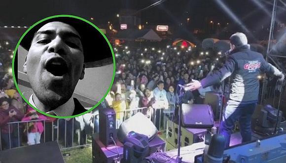 El incómodo momento que pasó Christian Yaipén en medio de concierto con Grupo5 (VÍDEO)