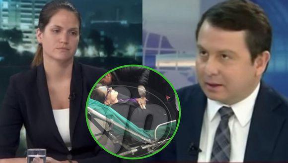 Lorena Álvarez: el momento que es trasladada en ambulancia tras desmayarse en audiencia contra expareja
