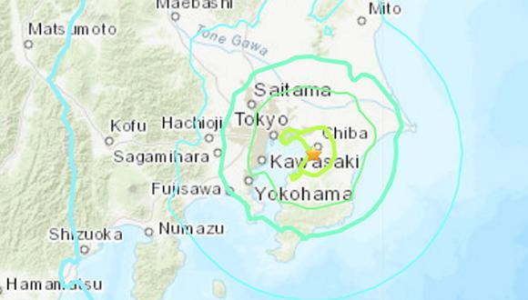 Reportan terremoto en Japón. (Foto: USGS)