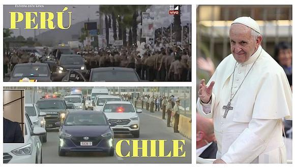 El recibimiento del papa Francisco en Perú y en Chile (VIDEO)