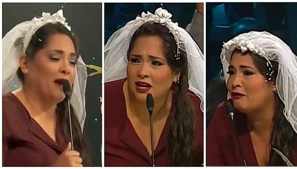 Yo Soy: Katia Palma se casó en vivo pero le aguaron la fiesta (VIDEO)