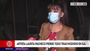 Laurita Pacheco: folclórica lo pierde todo tras incendiarse su casa en San Juan de Lurigancho