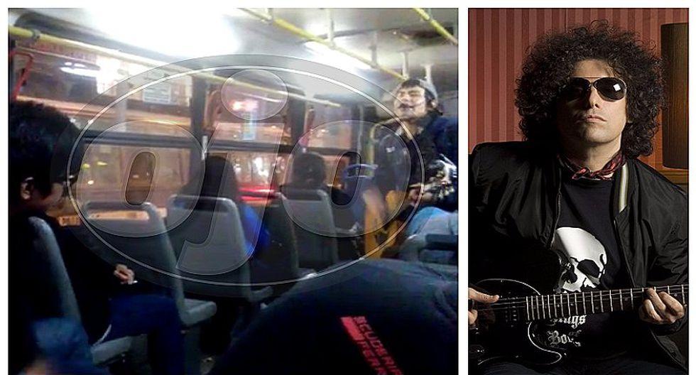 Jóvenes ingresan a ómnibus e impactan con versión de tema de Andrés Calamaro (VIDEO)