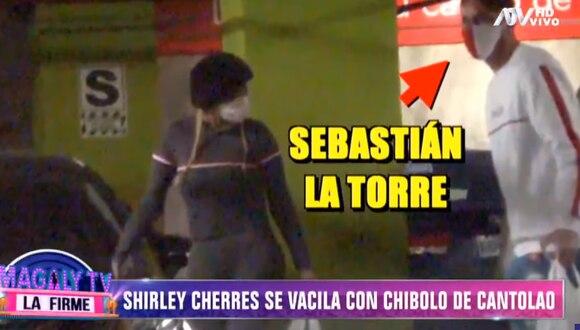 Shirley Cherres es captada con jugador del Cantolao. (Foto: ATV)