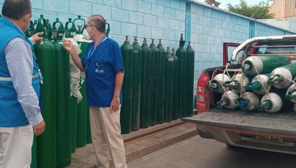 Lambayeque: envían balones de oxígeno a la Red Asistencial Moyobamba para ayudar a pacientes COVID-19 (Foto: EsSalud)