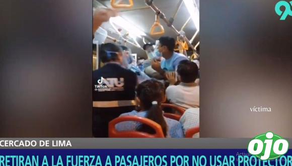 El hecho ocurrió en un bus del Metropolitano y en la estación Dos de Mayo. (Latina)