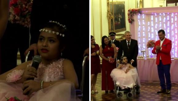 """Milagritos, la """"niña sirenita"""", cumplió 15 años y lo festejó en la MML (FOTOS Y VIDEO)"""