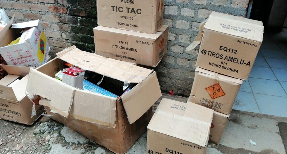 En el inmueble se hallaron productos detonantes y deflagrantes que no contaban con la autorización de la Sucamec. (Foto: @SucamecPeru)