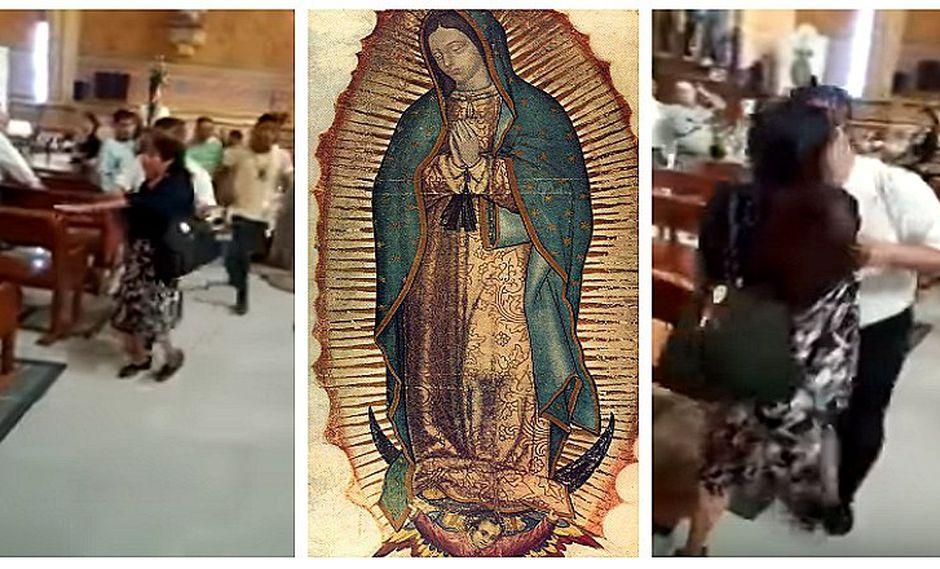 YouTube: mujer entra a catedral y destruye imagen de la Virgen de Guadalupe (VIDEOS)