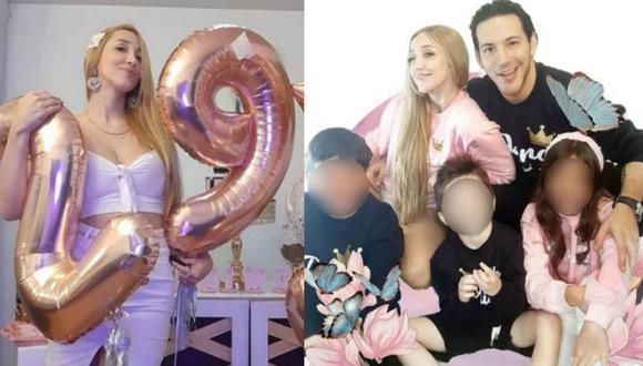 Romina Gachoy recibió sorpresa de Jean Paul Santa María y sus tres hijos por su cumpleaños