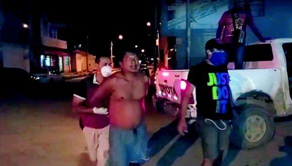 Los efectivos de la PNP llegaron a las 8:30 p.m. al inmueble, ubicado en la calle José Olaya, en el barrio El Recreo, en Tumbes.