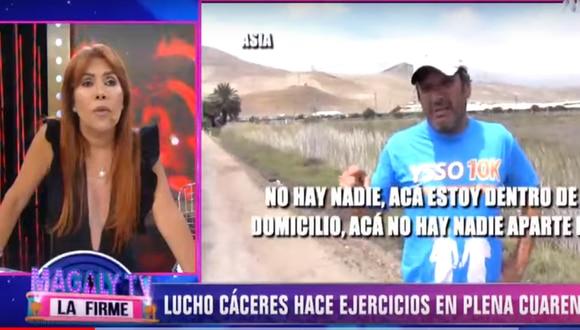 Lucho Cáceres sale a correr en medio de pandemia. (Foto: ATV)