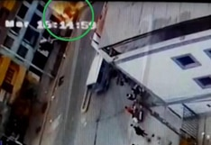 Cámaras captaron el preciso momento de la explosión en La Victoria│VIDEO