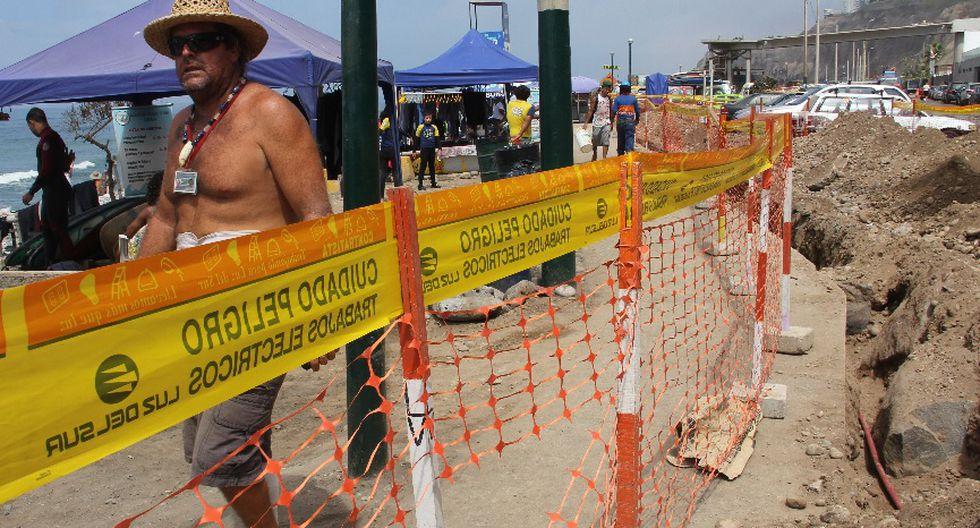 Costa Verde: veraneantes incómodos por obras de ampliación