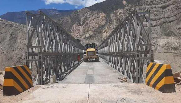 MTC instaló nuevo puente modular que une 3 regiones del Perú (Foto: MTC)