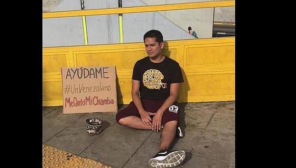 Joven pide limosna porque venezolano le quitó su trabajo y se hace viral en Facebook (FOTOS)