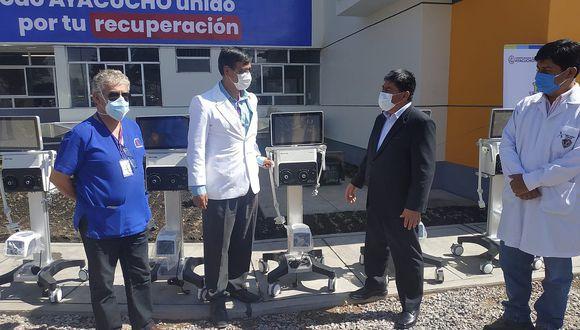Ayacucho: los ventiladores mecánica permitirpa ampliar la atención de pacientes en condiciones críticas de COVID-19.