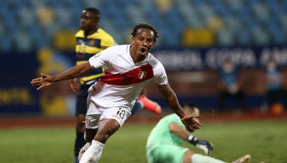 André Carrillo es uno de los jugadores con mejor rendimiento en el proceso a Qatar 2022. (Foto: AFP)