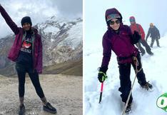 Sigrid Bazán logró escalar el nevado Mateo, a 5150 m.s.n.m. | FOTOS