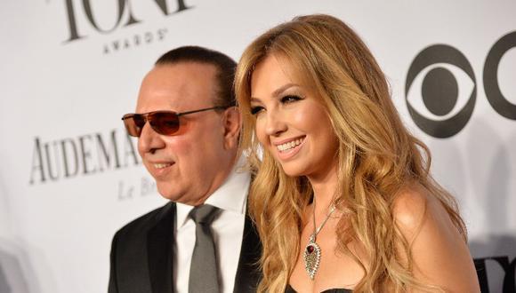 Thalía y Tommy Mottola celebran 20 años de matrimonio. (Foto: AFP)