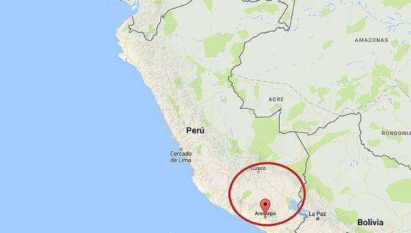Sismo de 4.0 grados se registró esta mañana en Arequipa
