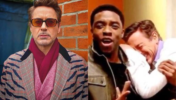 Robert Downey Jr conmueve a los fans con emotiva despedida a Chadwick Boseman. (Foto:@Robert Downey jr)