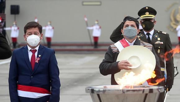 """Pedro Castillo deja sin piso a Bellido sobre Camisea: """"Si hubo algunos exabruptos, lo hemos corregido"""" (Foto: Presidencia Perú)."""