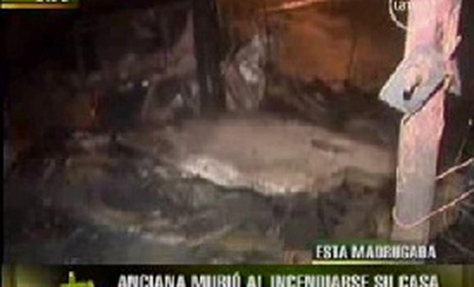 Anciana de 62 años muere en terrible incendio